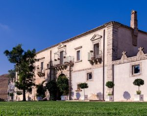 This hotel is a part-crenellated 16th century Masseria with beautiful grounds and views to Mount Etna. This a great place to stay when cycling Sicily.